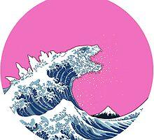 Pink Kanagawa wave by thelazyhuman