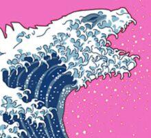 Pink Kanagawa wave Sticker