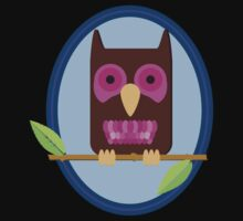 Owl on a limb Baby Tee