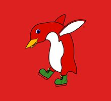 Christmas Red Penguin with Green Ice Skates Unisex T-Shirt