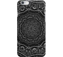 Kaleidoscope 5 black & white geometric fractal mandala pattern iPhone Case/Skin