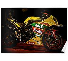 Swan Yamaha R1 Superbike Poster