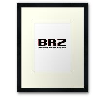 BRZ Coupe Classic Framed Print