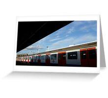 London underground under the sky Greeting Card