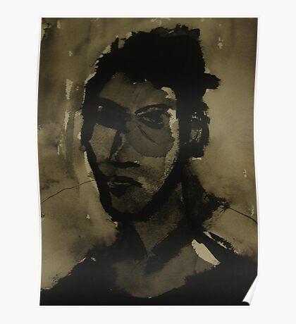 self-portrait in ink Poster