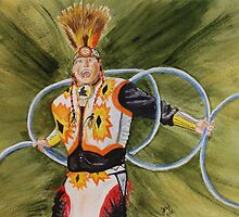 Study of Hoop Dancer by JRobinWhitley