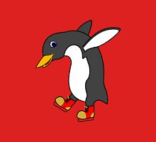 Christmas Penguin with Red & Gold Ice Skates T-Shirt