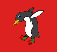 Christmas Penguin with Red & Green Ice Skates T-Shirt