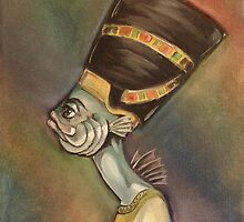 Nefertiti (as a fish) by Ellen Marcus