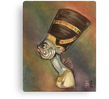 Nefertiti (as a fish) Canvas Print