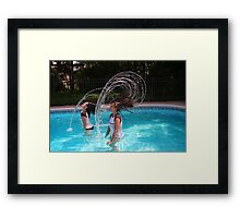 The Head Water Wave Framed Print