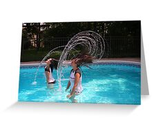 The Head Water Wave Greeting Card
