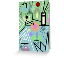 abstract urban 10 Greeting Card