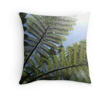 Ferns Across a Blue Sky Throw Pillow