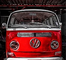 Red combi Volkswagen by benbdprod