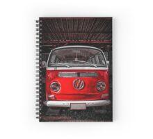 Red combi Volkswagen Spiral Notebook