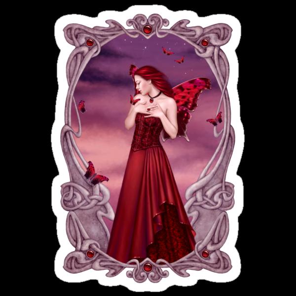 Garnet Birthstone Fairy by Rachel Anderson