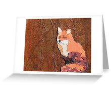 Cut Paper Animal Collage: Fox Greeting Card