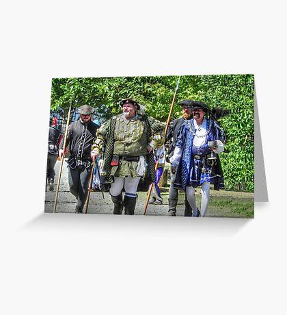 King Richard Strolls the Village Greeting Card