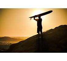 Long boarder watching the waves Photographic Print