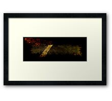 Textured Fabric Framed Print