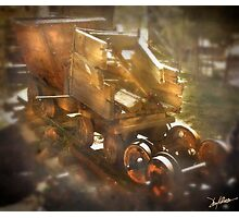 Busted Ore Cars Photographic Print