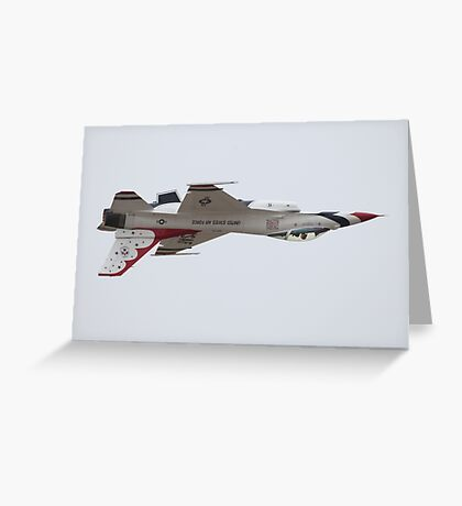 Air Force Thunderbirds Inverted Flying 6 Greeting Card