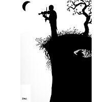he played on the edge of the world Photographic Print