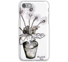 Wit madeliefieblare iPhone Case/Skin