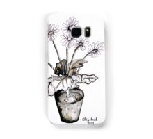 Wit madeliefieblare Samsung Galaxy Case/Skin