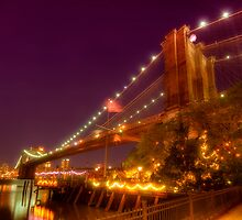 Brooklyn Bridge At Night by Yhun Suarez