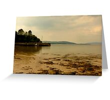 Inch Pier In The Evening Light Greeting Card