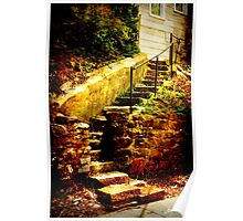 Stone Stairs in Birmingham Poster