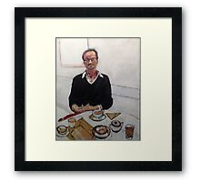 Coffee with Chris Framed Print