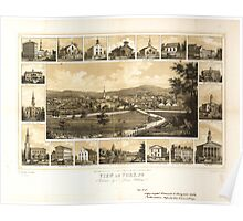 Panoramic Maps View of York Pa Poster