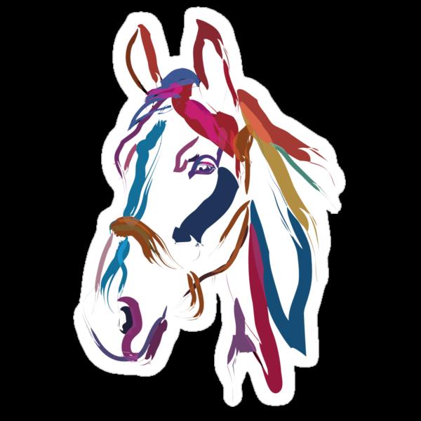 Cool t-shirt Horse Colour me beautiful by Go van Kampen