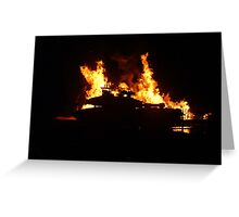 Tank crosses the flames Greeting Card