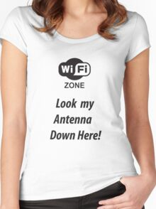 Wi-fi antenna Women's Fitted Scoop T-Shirt