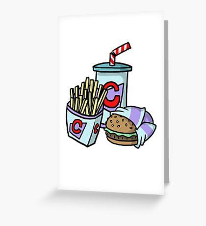 Large Cheeseburger Meal Greeting Card