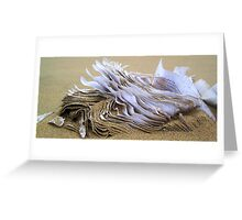 Sand paper Greeting Card