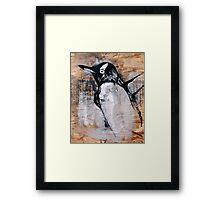 reclaimed penguin  Framed Print