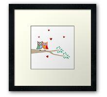 Love Owls Framed Print