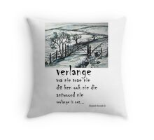Swart op wit. Throw Pillow