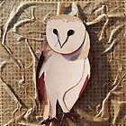 Cut Paper Animal Collage: Owl by chillchey