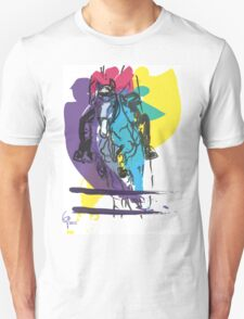 Horse jumping in colour Unisex T-Shirt