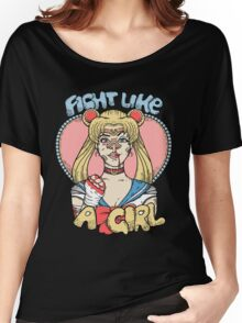 Sailor Moon- Fight Like a Girl Women's Relaxed Fit T-Shirt
