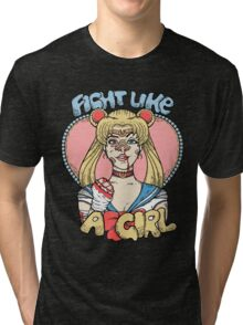 Sailor Moon- Fight Like a Girl Tri-blend T-Shirt