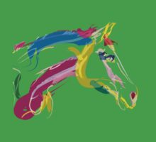 Cool t-shirt, horse Lovely in colours One Piece - Short Sleeve