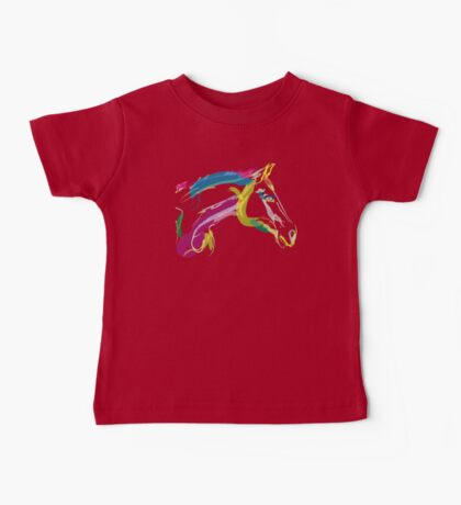 Cool t-shirt, horse Lovely in colours Baby Tee