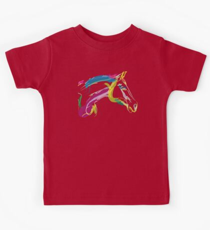 Cool t-shirt, horse Lovely in colours Kids Tee